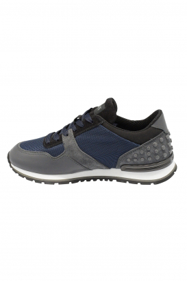 Spoiler Matt XH Tod's sneakers in blue and grey suede, leather and fabric