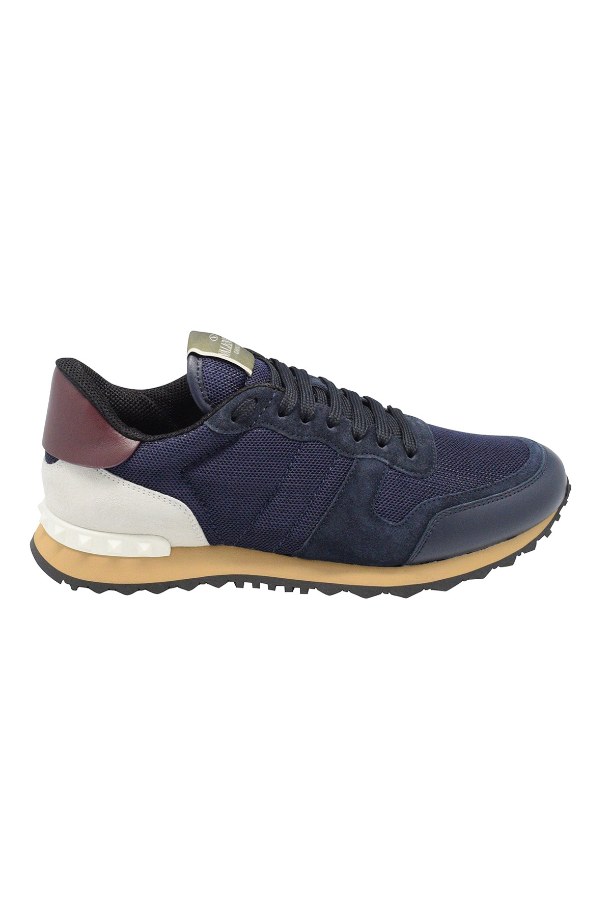 Valentino Rockrunner sneakers in blue and white fabric and nappa