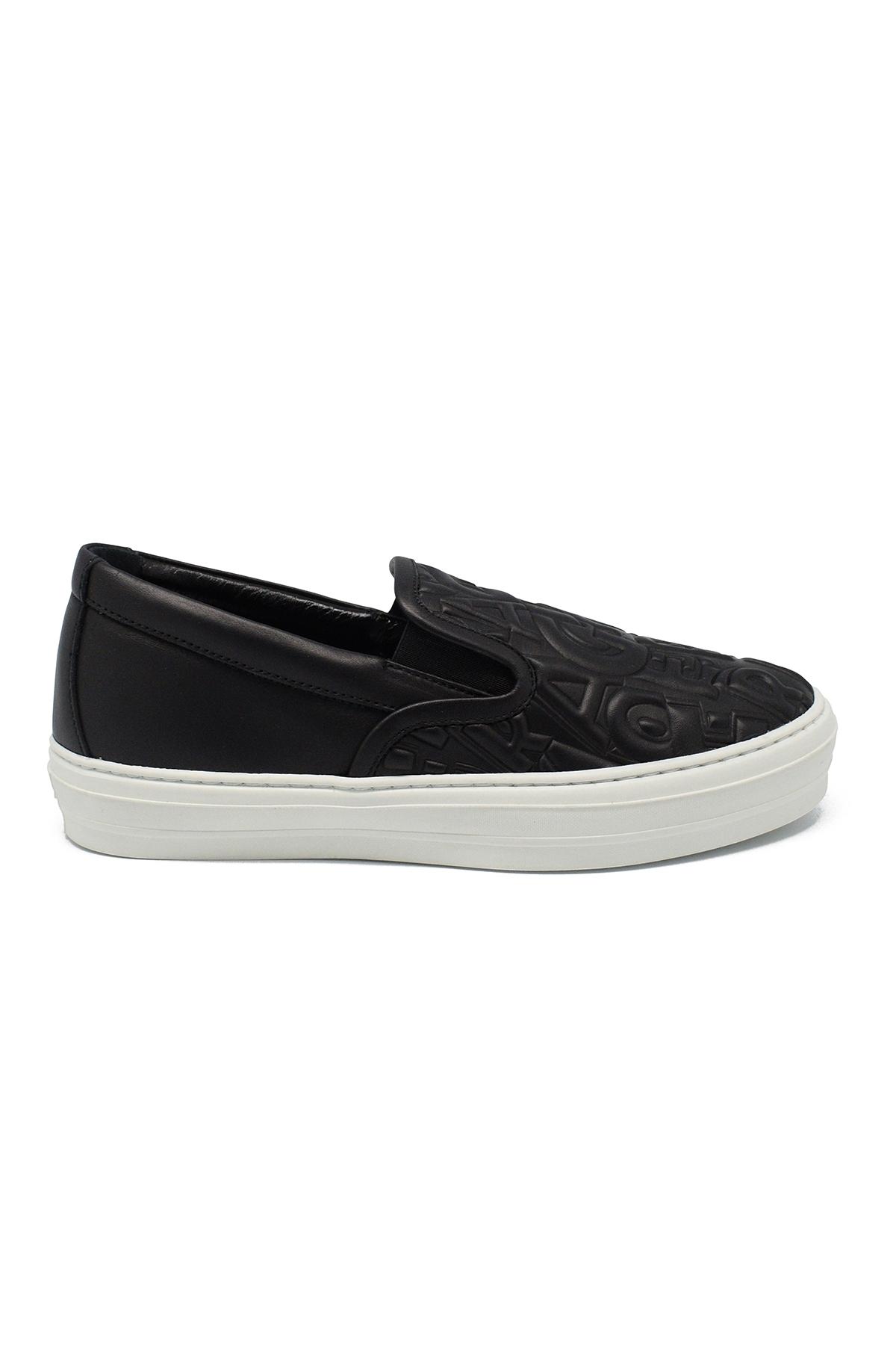 Leather slip-on