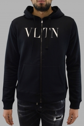Sweat noir à zip VLTN