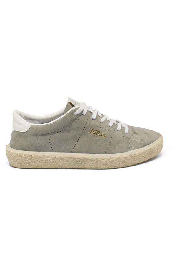 Golden Goose lace-up sneakers in grey suede with rubber sole