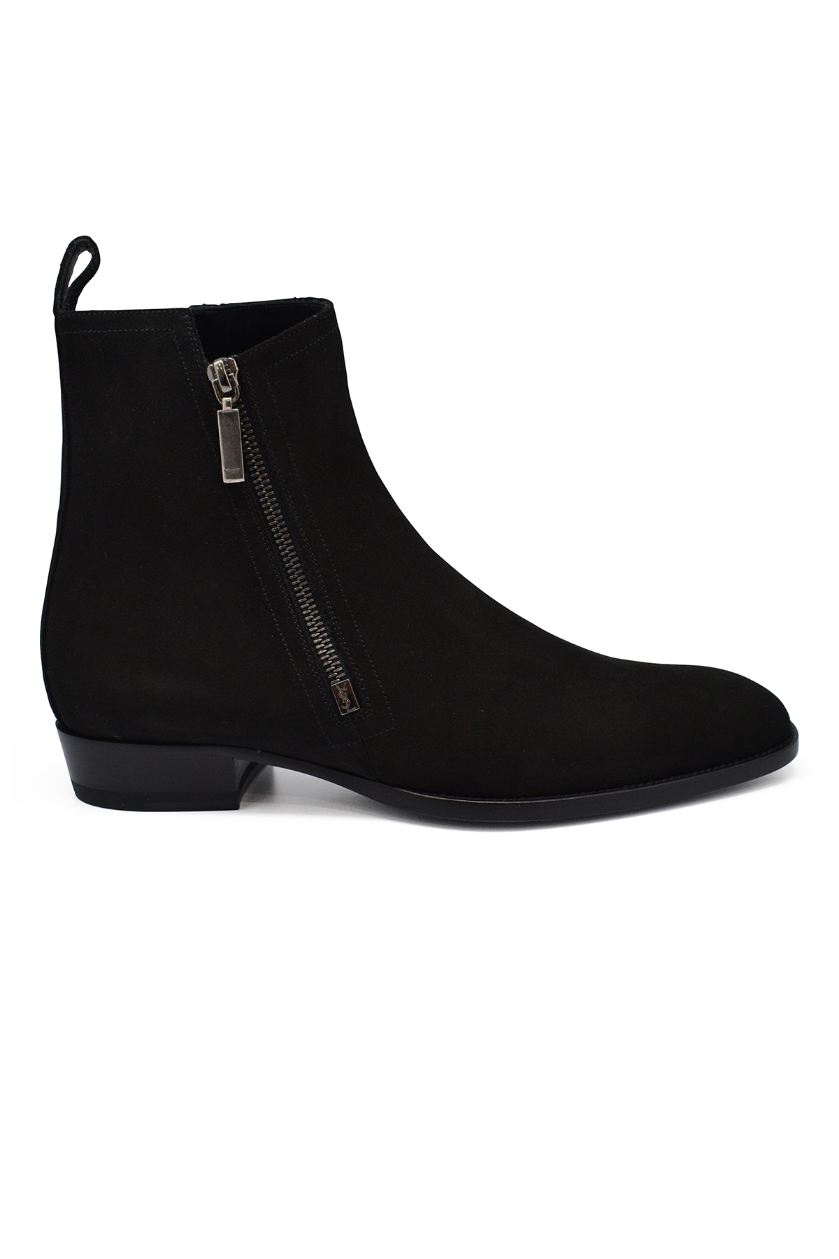 Suede zipped boots