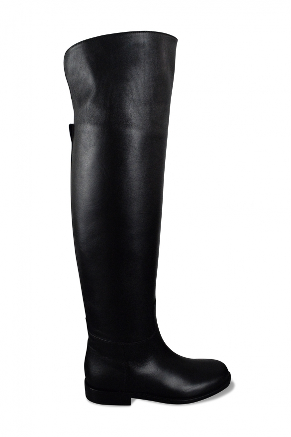 Valentino Riding over-the-knee boots in black leather