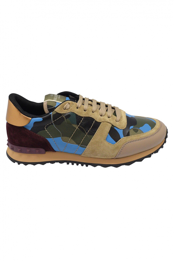 3988fa24d519a Men sneakers - Valentino Rockrunner camouflage multicolored sneakers