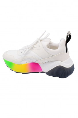 Stella McCartney Eclypse Rainbow white sneakers with pumped-up colored sole